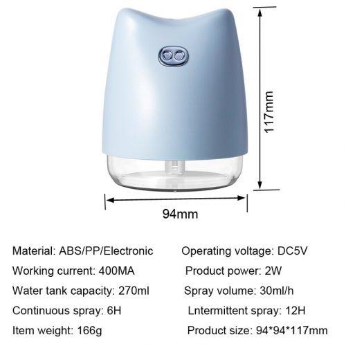 Diffuseur D'huile Essentielle d'arome Ultrasonique de Mini cochon Humidificateur Purificateur D'air LUMIÈRE LED USB VOITURE désodorisant brumisateur