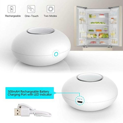 RIGOGLIOSO Mini générateur d'ozone désodorisant purificateur d'air USB Rechargeable réfrigérateur purificateur Portable Air petit espace clair odeur