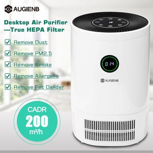 AUGIENB purificateur d'air ioniseur pour la maison véritable HEPA filtres purificateurs de bureau Filtration filtre à Air 200 m3/h CE pour les fumeurs Pollen