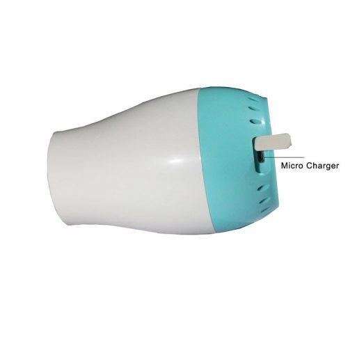 Générateur d'ozone portable, purificateur d'air, chargeur USB, pour la maison, nettoyeur d'air ionique, élimine l'odeur de fumée, les bactéries