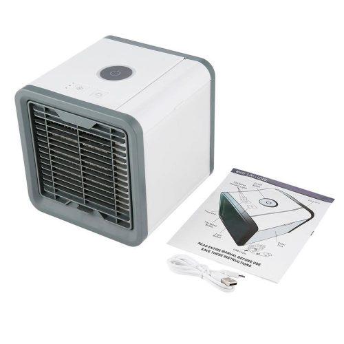 Mini refroidisseur d'air Portable Air arctique climatiseur apaisant 7 couleurs lumière LED humidificateur pour la livraison directe de bureau à domicile