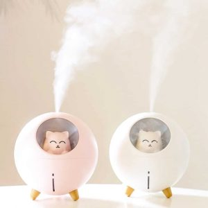 220ml Humidifier Planet Cat Air Humidificador USB Ultrasonic Aroma Diffuser With Atmosphere Night Lamp Cool Mist Maker Fogger
