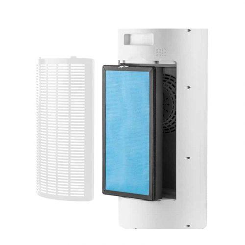Purificateur d'air, ioniseur négatif à grande échelle, LED ozonateur avec filtre en charbon actif pour la maison et le bureau, élimination du formaldéhyde et fumée silencieuse