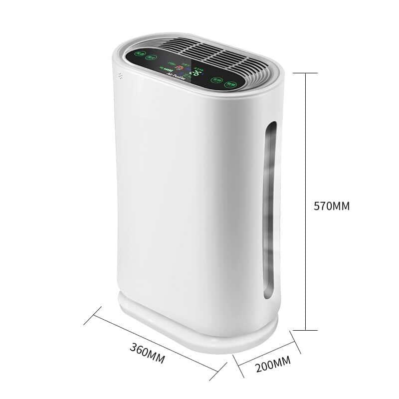Purificateur d'air Intelligent pour la maison, affichage pm 2.5, élimination du formaldéhyde, purificateur d'air, stérilisation, cadeau