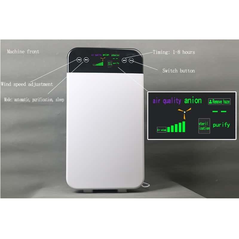 Purificateur d'air 3h filtre Hepa grand ioniseur négatif charbon actif pour la maison bureau d'ozone frais enlever le formaldéhyde ozoniseur