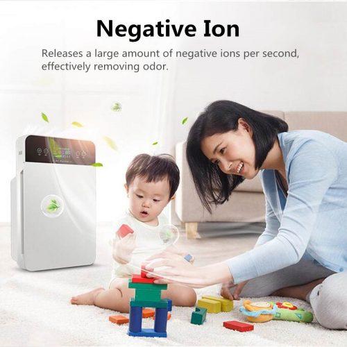 Purificateur d'air Intelligent, stérilisateur, nettoyage de la fumée et de l'air, filtre Hepa domestique Intelligent avec télécommande