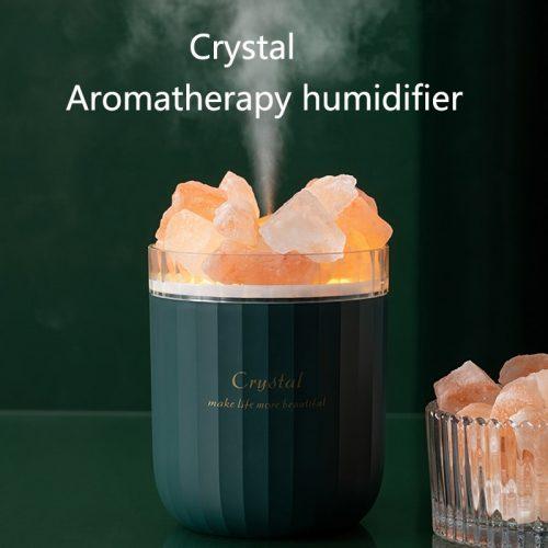 Humidificateur portatif d'aromathérapie en cristal humidificateur d'air de diffuseur d'huile essentielle d'arome sans fil d'usb avec la maison de lampe d'atmosphère