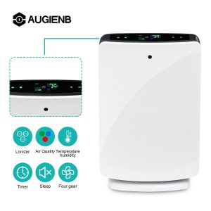 AUGIENB purificateur d'air de bureau à domicile véritable filtre HEPA suppression des Allergies aux odeurs pour fumée, poussière, cov, Pollen, squames pour animaux de compagnie, PM2.5