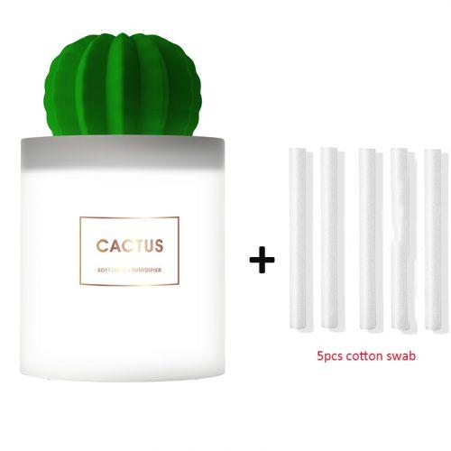 Diffuseur d'huile essentielle d'arome ultrasonique de Cactus de lumière LED molle d'humidificateur d'air de 280ML pour le Mini purificateur d'air d'usb de voiture à la maison