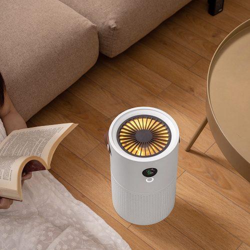 Purificateur d'air dauphin blanc AP01 pour la maison HEPA filtres purificateur de bureau affichage intelligent et veilleuse purificateur d'air Rechargeable